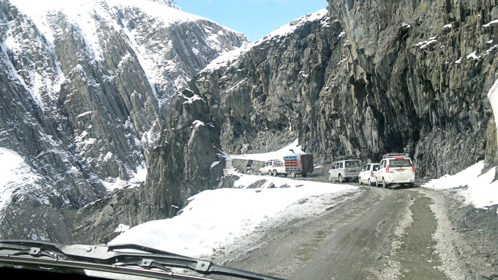 Zojila tunnel in Ladakh
