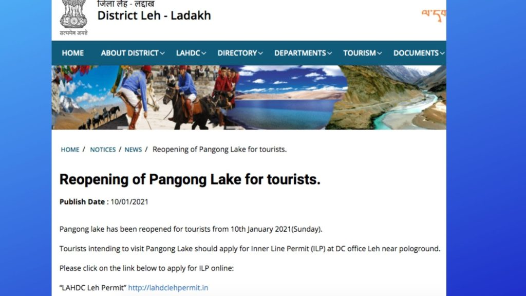 Can we visit Pangong Lake Now?